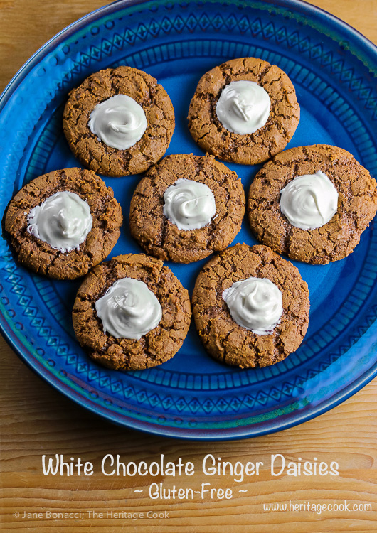 Perfect for Christmas, White Chocolate Ginger Daisies; 2015 Jane Bonacci, The Heritage Cook