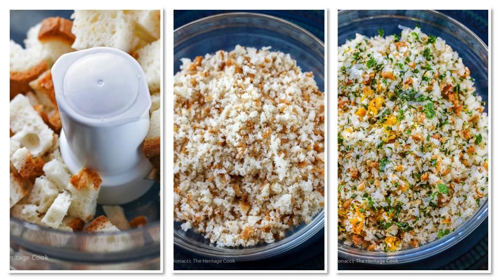 How to make fresh breadcrumbs; Herbed Pork Chops; Jane Bonacci 2015 The Heritage Cook