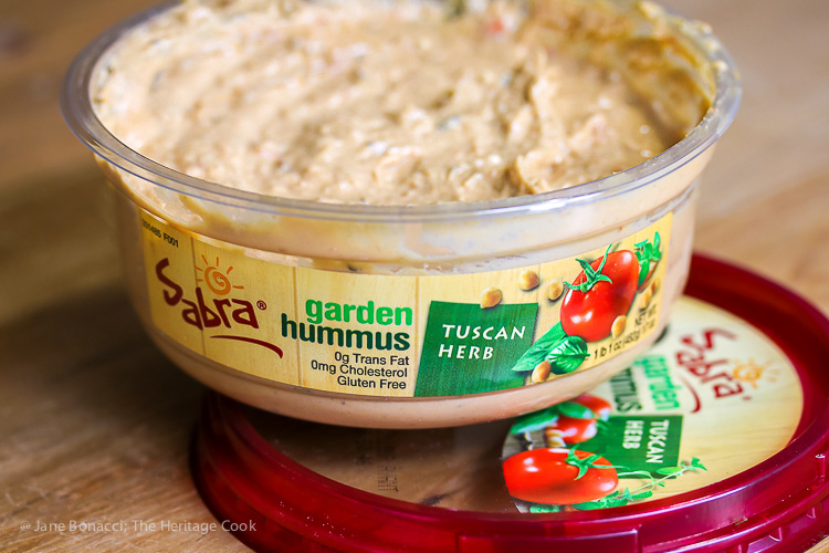 Sabra's Tuscan Garden Herb Hummus adds beautiful flavor and texture to the soup