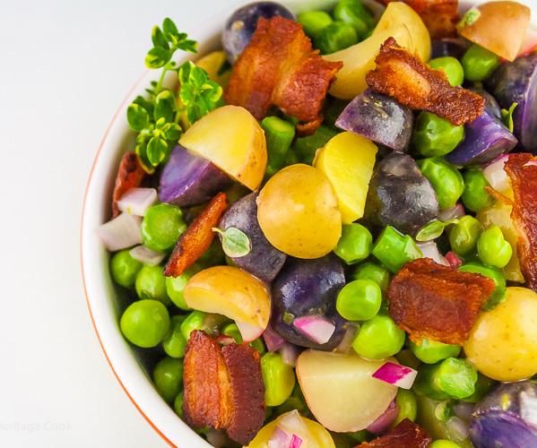 Potato, Spring Vegetable, and Bacon Salad with Lemon Vinaigrette (Gluten-Free)