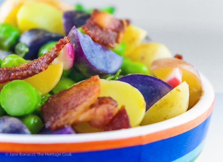 Potato, Veggie, and Bacon Salad; © 2016 Jane Bonacci, The Heritage Cook