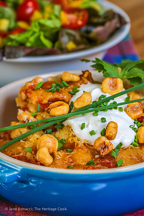 Gluten Free Chicken Enchilada Casserole; 2016 Jane Bonacci, The Heritage Cook