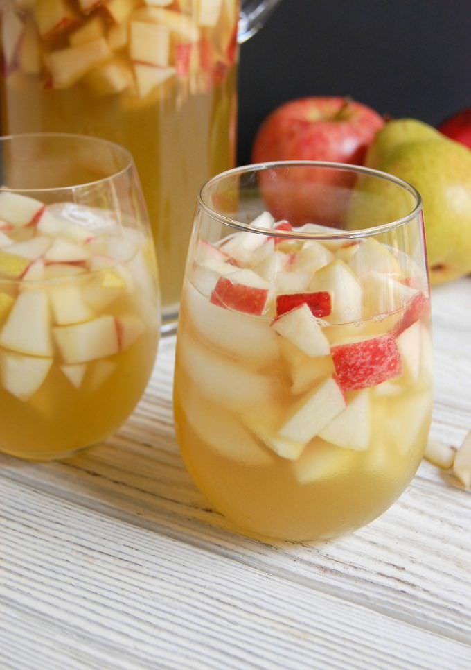 Sparkling Apple Pear Sangria; Julia, A Cedar Spoon