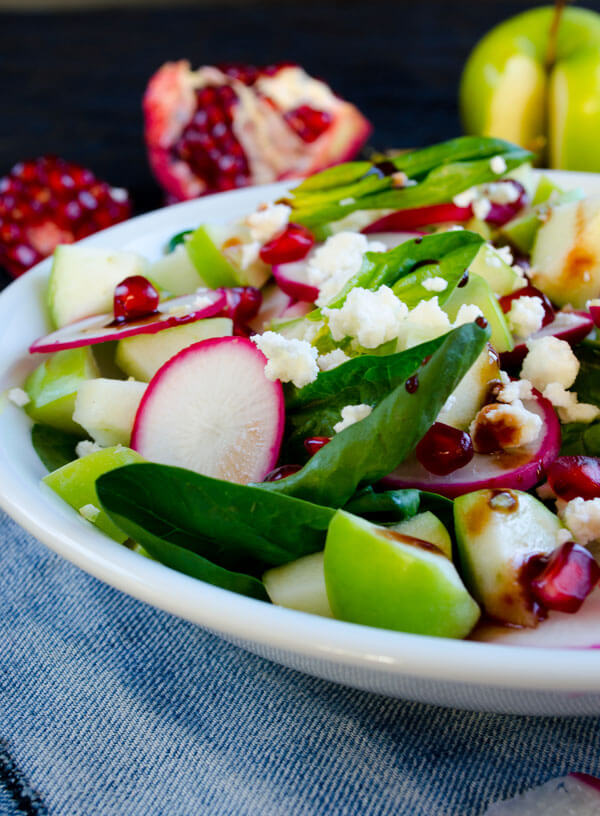 Tangy Spinach and Apple Salad; Zerrin, Give Recipe
