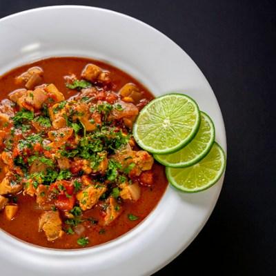 Gluten Free Spicy Chicken, Chile, Chocolate Soup