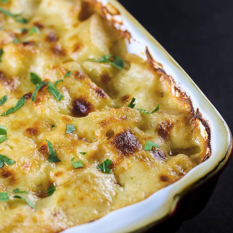The Creamiest Cheesy Potatoes au Gratin; © 2016 Jane Bonacci, The Heritage Cook