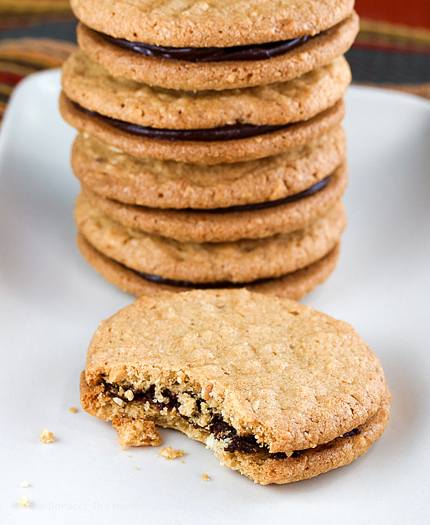Peanut Butter and Chocolate Ganache Sandwich Cookies ...