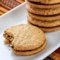 Peanut Butter and Chocolate Ganache Sandwich Cookies © 2017 Jane Bonacci, The Heritage Cook
