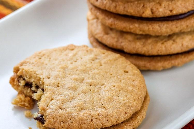 Peanut Butter and Chocolate Ganache Sandwich Cookies © 2017 Jane Bonacci, The Heritage Cook