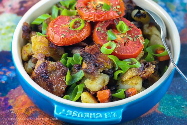 Duck Confit Potato Hash (Gluten Free) © 2017 Jane Bonacci, The Heritage Cook