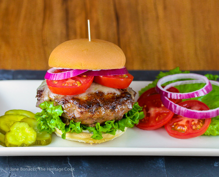 French Duck Confit Burgers with Gruyere (Gluten-Free) © 2017 Jane Bonacci, The Heritage Cook. All rights reserved.