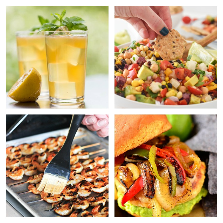 Collage of favorite summer recipes; 40 Top Summertime Favorites part 1; 2017 Jane Bonacci, The Heritage Cook
