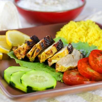 Grilled Tandoori Chicken with Cucumber Yogurt Sauce (Gluten-Free)