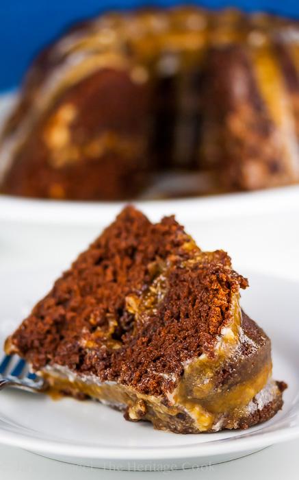 German Chocolate Surprise Bundt Cake © 2017 Jane Bonacci, The Heritage Cook