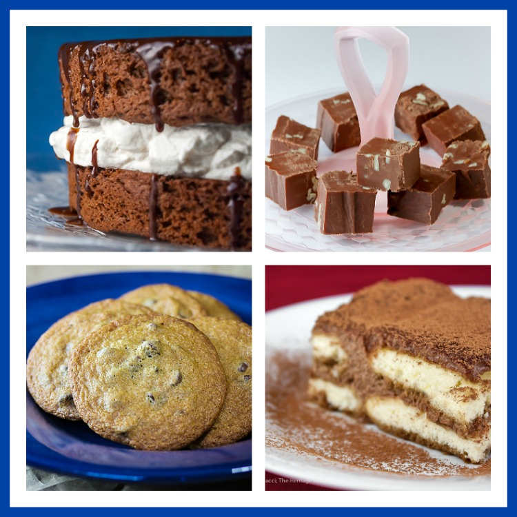 Collection of 4 chocolate recipes; Top 21 most popular Chocolate Monday recipes of 2017 © 2017 Jane Bonacci, The Heritage Cook
