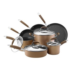 Anolon Cookware Set; 2017 Holiday Gift List for Cook from The Heritage Cook; Jane Bonacci, The Heritage Cook