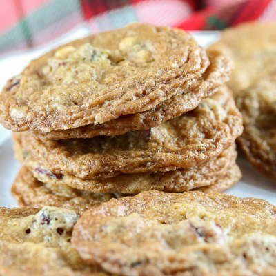 Gluten Free Cranberry White Chocolate Chip Cookies