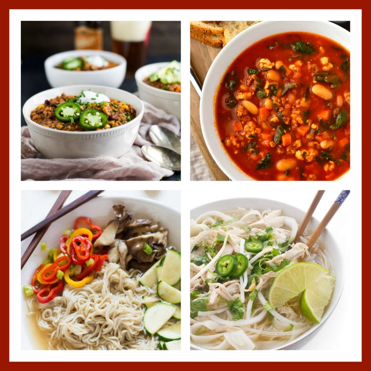 Collage of 4 photos of 30 Warming Comfort Foods for Chilly Winter Days 2017 Jane Bonacci, The Heritage Cook