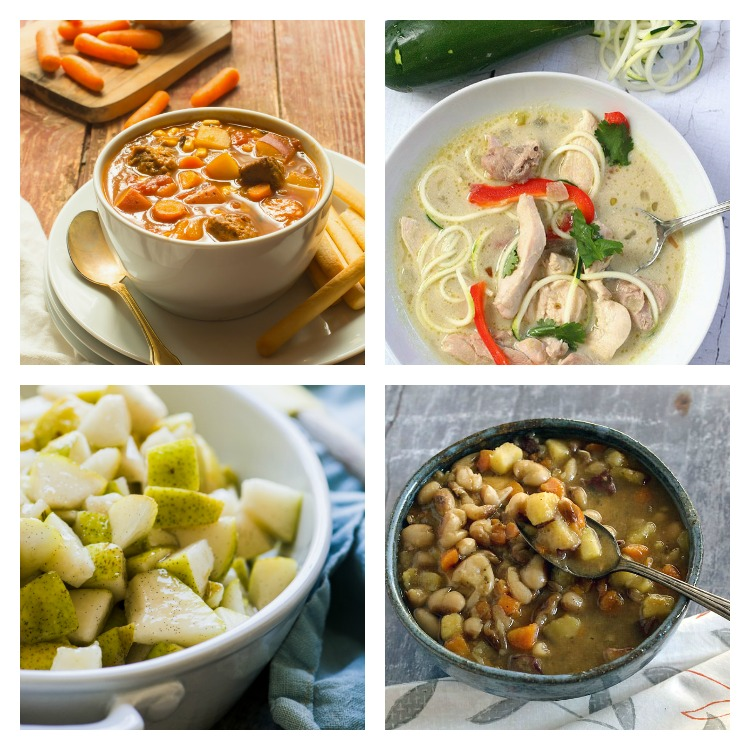 4 photo collage of 30 Warming Comfort Foods for Chilly Winter Days 2017 Jane Bonacci, The Heritage Cook