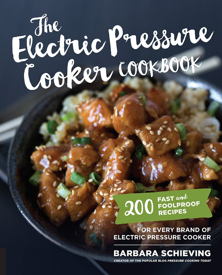 Cover of The Electric Pressure Cooker Cookbook; Instant Pot Green Chile Pork Tacos (Gluten Free) © 2018 Jane Bonacci, The Heritage Cook