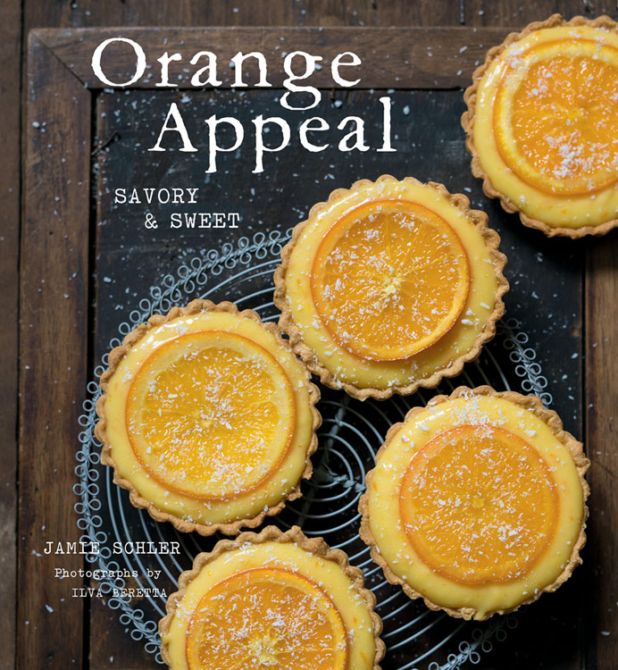 Cover of cookbook; Oranges in Spiced Wine Syrup and Scenes from Chinon © 2018 Jane Bonacci, The Heritage Cook