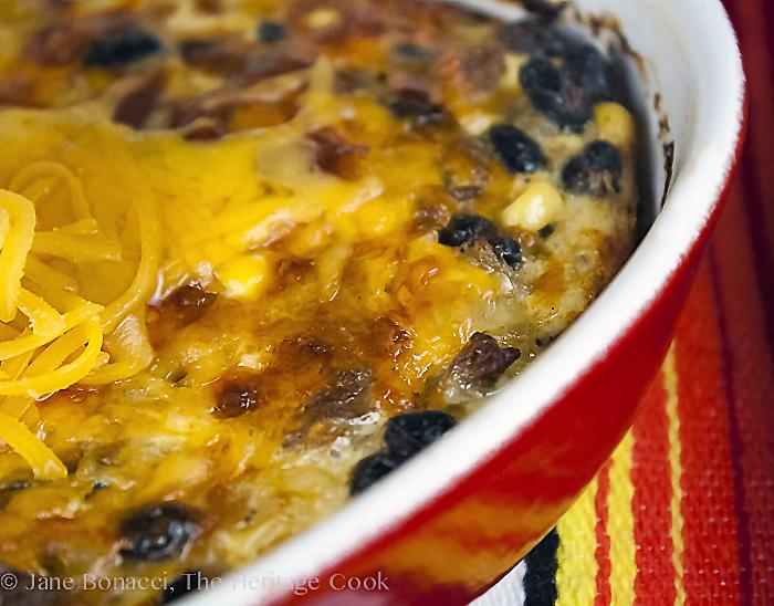 Green Chile Egg Sausage Casserole © 2018 Jane Bonacci, The Heritage Cook