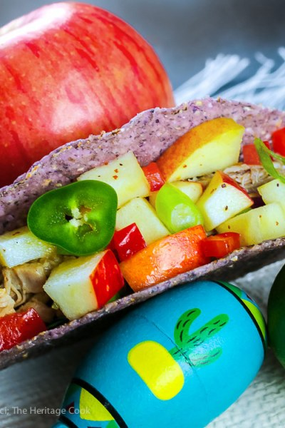 Easy Piñata Apple Salsa with Pork Tacos (Gluten-Free)
