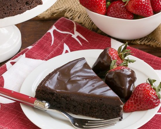 Flourless Double Chocolate Cake; 7 Great Chocolate Desserts for Mother's Day 2018 assembled by Jane Bonacci, The Heritage Cook