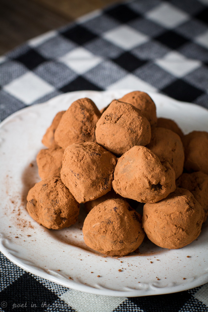 handmade ginger orange chocolate truffles; 7 Great Chocolate Desserts for Mother's Day 2018 assembled by Jane Bonacci, The Heritage Cook
