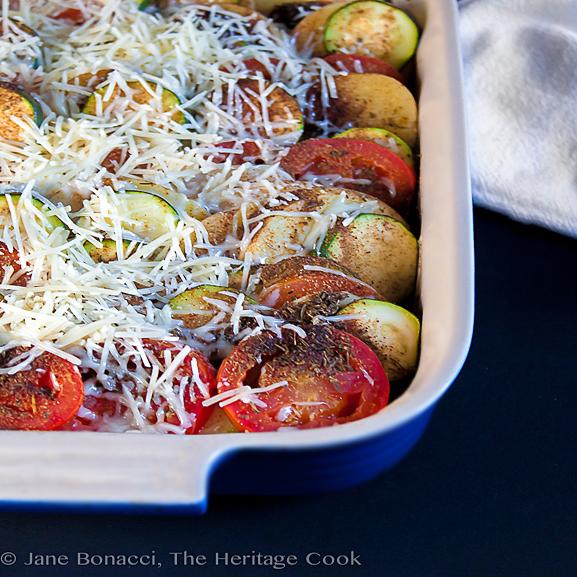 Gluten Free Baked Vegetable Gratin © 2018 Jane Bonacci, The Heritage Cook