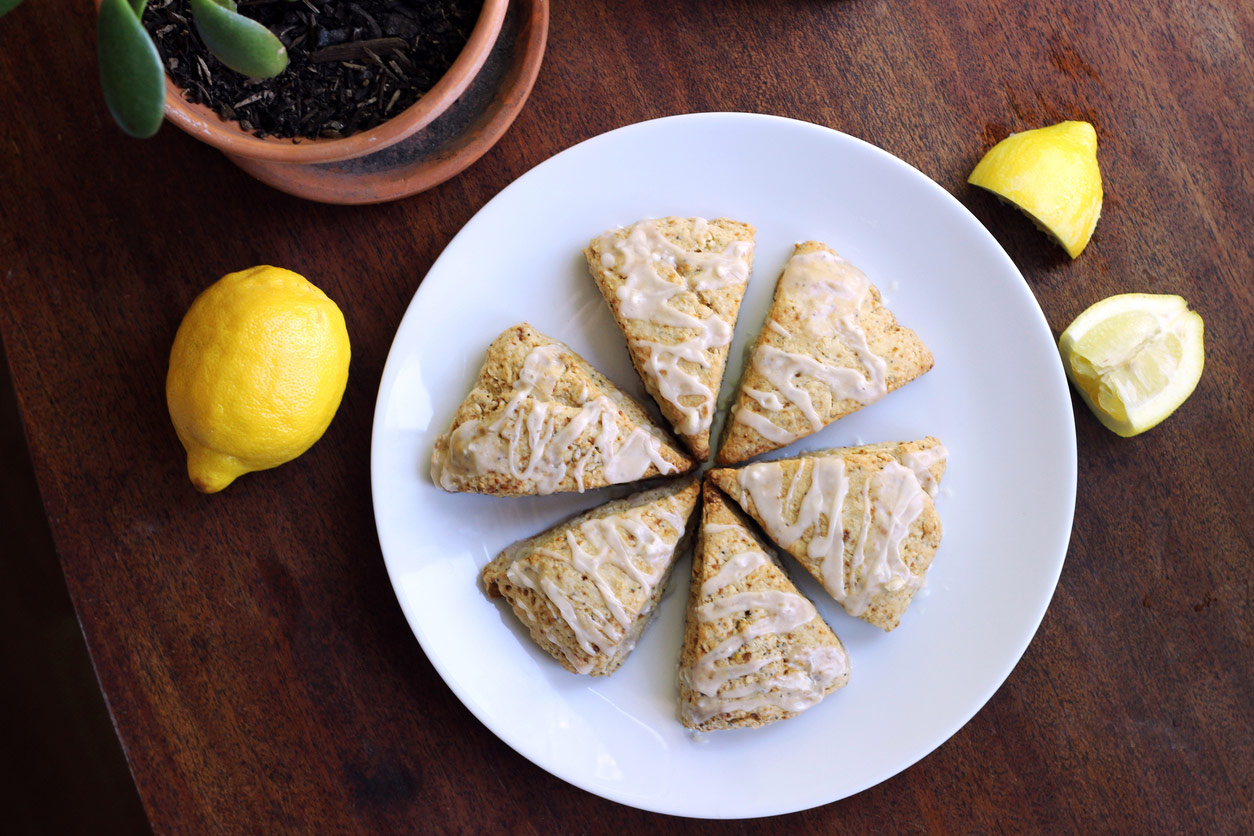 Lemony Glazed Cream Scones for the Royal Wedding; The Heritage Cook by Jane Bonacci
