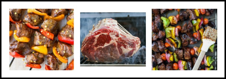 Collage of 3 photos; The 16 Best BBQ Recipes; compiled by Jane Bonacci, The Heritage Cook 2018