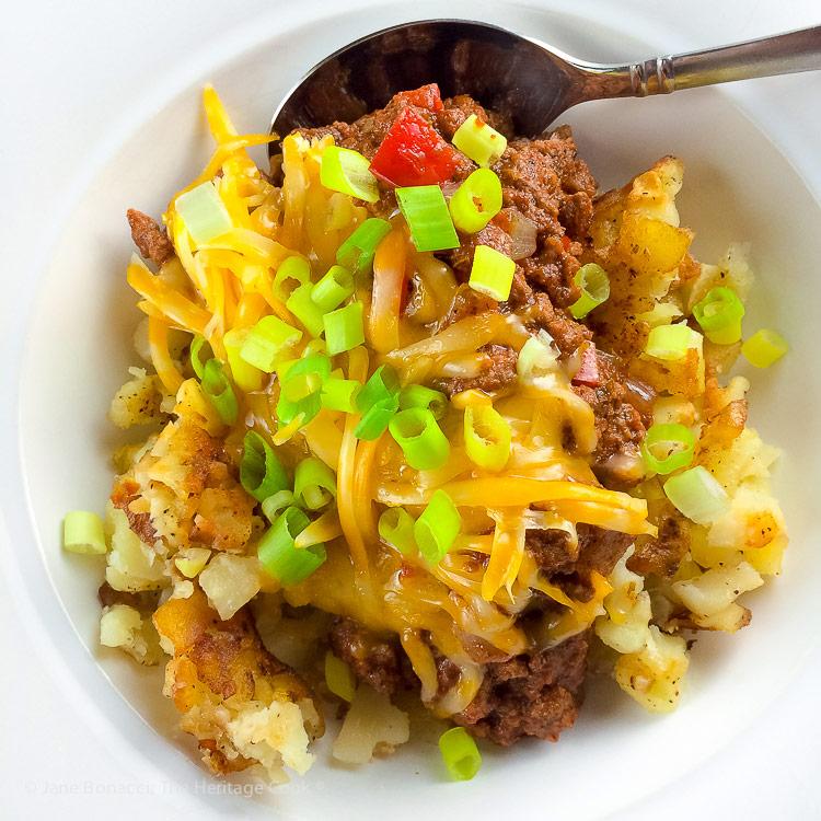 Gluten Free Chili Hash © 2018 Jane Bonacci, The Heritage Cook