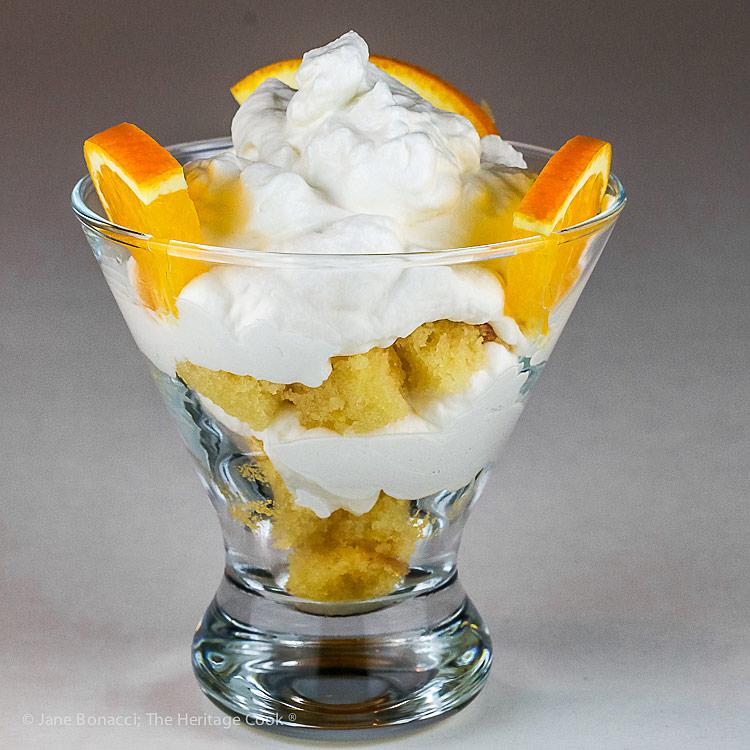 Orange Creamsicle Trifle; © 2018 Jane Bonacci, The Heritage Cook