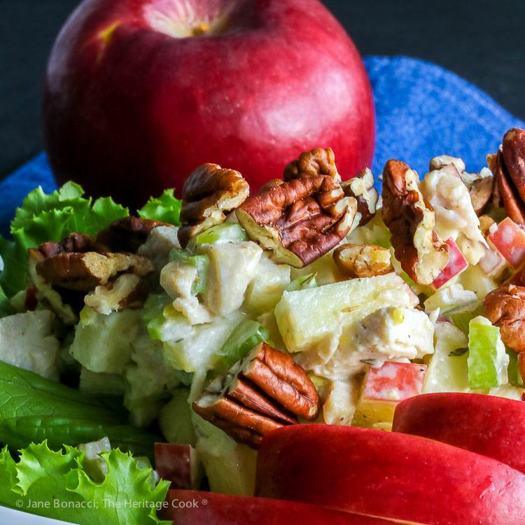 Rave Apple Chicken Salad © 2018 Jane Bonacci, The Heritage Cook