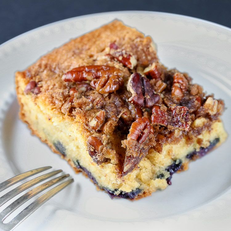 Blueberry Coffee Cake © 2018 Jane Bonacci, The Heritage Cook
