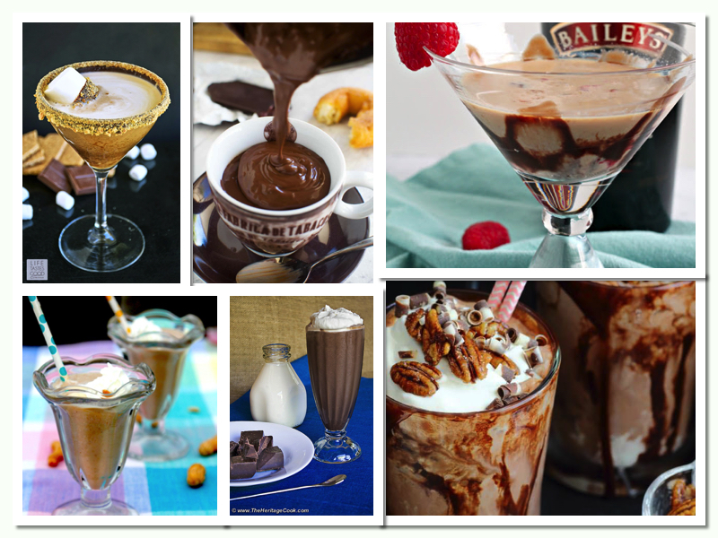 Collection of 6 Incredible Chocolate Beverages compiled by Jane Bonacci, The Heritage Cook