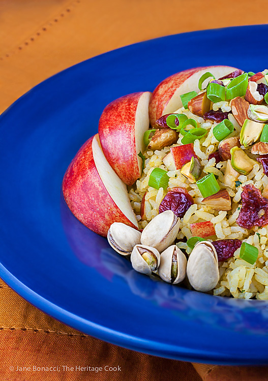 Basmati Rice Pilaf with Apples, Cranberries, and Pistachios; 10 Tips to Help You Live Gluten Free