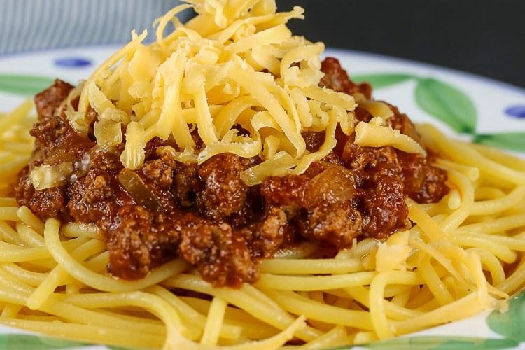 Secret Ingredient Ohio Chili with Spaghetti (Gluten Free)