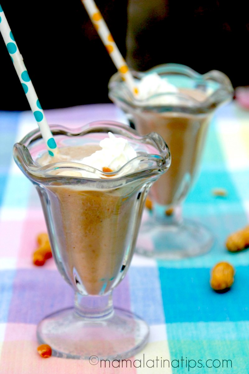 Banana Peanut Butter Chocolate Milk; Collection of 6 Incredible Chocolate Beverages compiled by Jane Bonacci, The Heritage Cook
