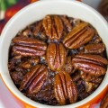 Grilled Crustless Bourbon Pecan Pies with Gluten Free Directions © 2018 Jane Bonacci, The Heritage Cook
