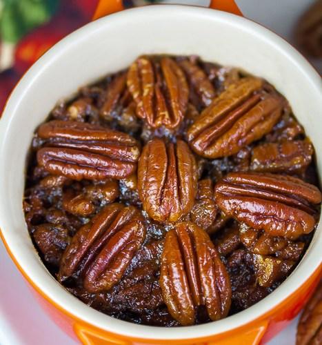 Crustless Bourbon Pecan Pies (Gluten Free directions)