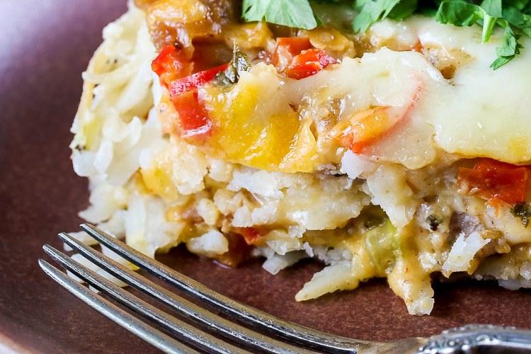 Cheesy Breakfast Hash Brown Casserole (Gluten Free)