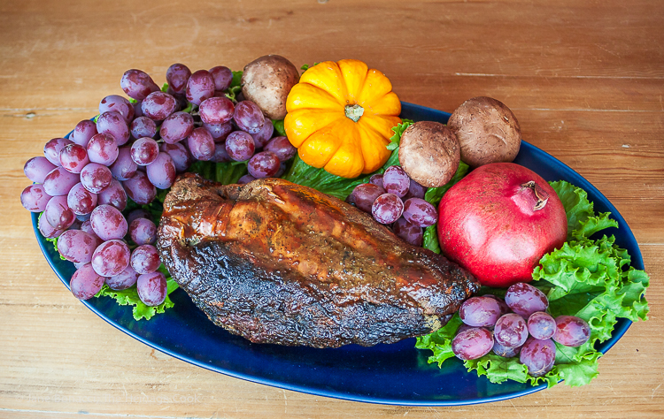 Thanksgiving platter with turkey; 15 Favorite Thanksgiving Recipes for 2018 © Jane Bonacci, The Heritage Cook