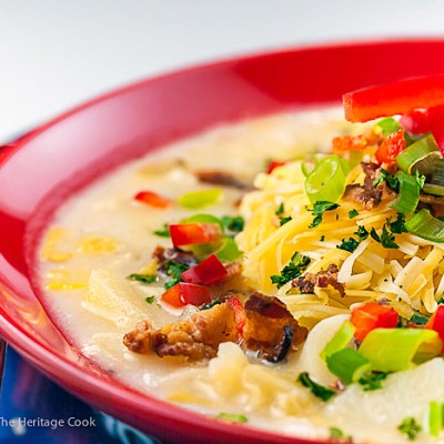 Cheesy Potato Bacon Soup (Gluten Free)