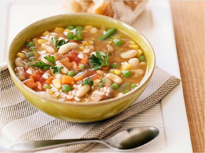 Hearty Mixed Bean Soup; The Top Baker's Dozen Recipes of 2018 collection; Jane Bonacci, The Heritage Cook