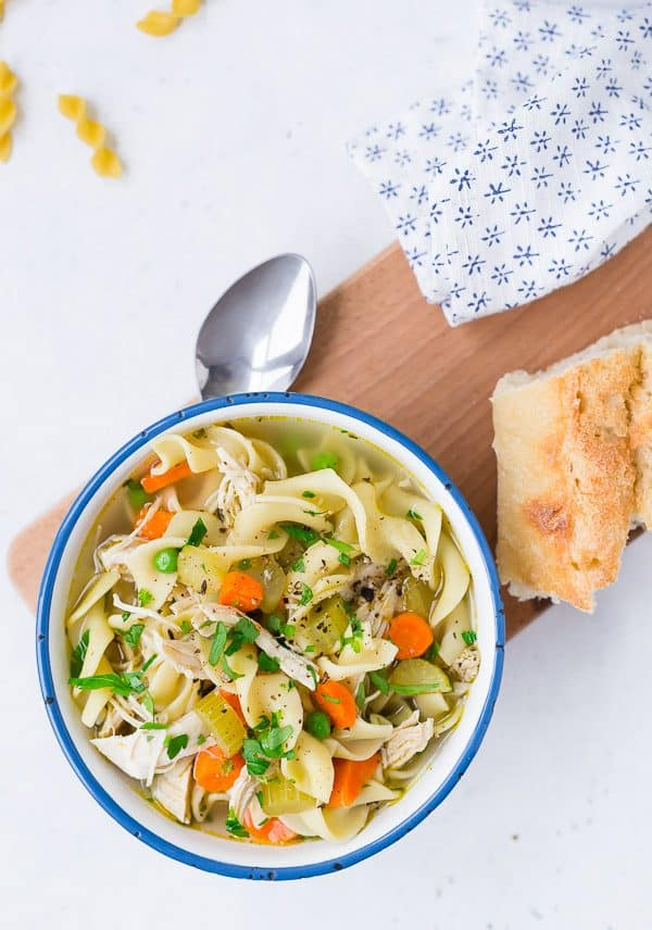 Instant Pot Chicken Noodle Soup; 15 Great Chicken Recipes collection, compiled by Jane Bonacci, The Heritage Cook