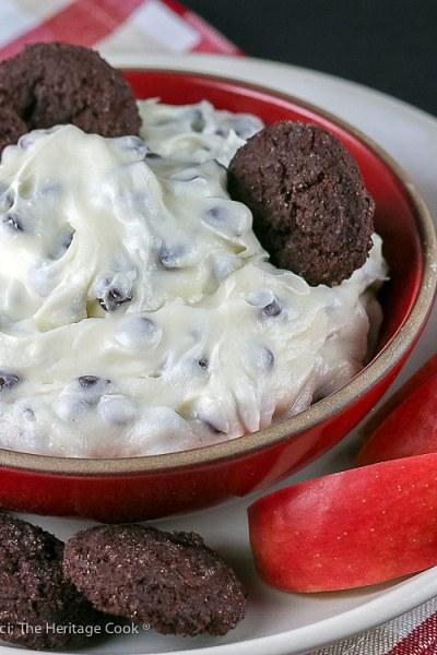 Chocolate Chip Cheesecake Dip © 2019 Jane Bonacci, The Heritage Cook