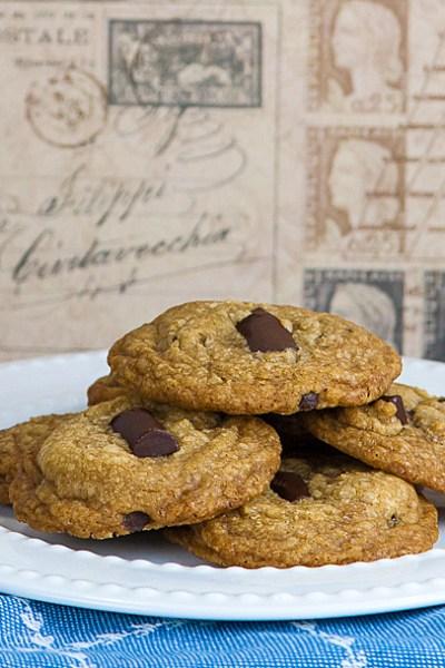 Gluten Free Chocolate Chunk Toffee Cookies © 2019 Jane Bonacci, The Heritage Cook