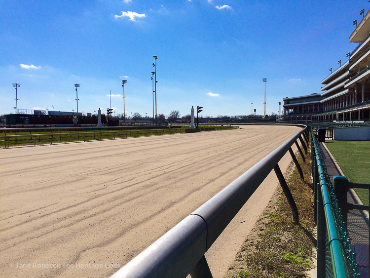 The homestretch at Churchill Downs; Jane Bonacci, The Heritage Cook